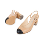 Authentic Pre Owned Chanel Cap Toe Slingback Sandals (PSS-575-00039) - Thumbnail 1