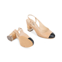 Authentic Pre Owned Chanel Cap Toe Slingback Sandals (PSS-575-00039) - Thumbnail 2