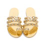 Authentic Pre Owned Chanel Metallic Chainlink Leather Slides (PSS-575-00040) - Thumbnail 0
