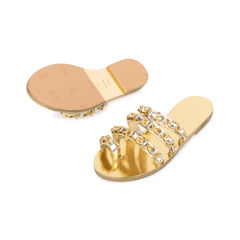 Chanel metallic chainlink leather slides 2?1542094477