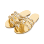 Authentic Pre Owned Chanel Metallic Chainlink Leather Slides (PSS-575-00040) - Thumbnail 3