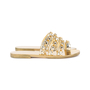 Authentic Pre Owned Chanel Metallic Chainlink Leather Slides (PSS-575-00040) - Thumbnail 4