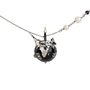Authentic Pre Owned Chanel CC Logo Chain Globe Necklace (PSS-575-00041) - Thumbnail 0