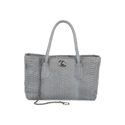 Authentic Pre Owned Chanel Python Cerf Tote (PSS-575-00046)