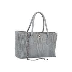 Chanel python cerf tote grey 2?1542094765