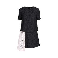 Contrast Panel Lace Dress
