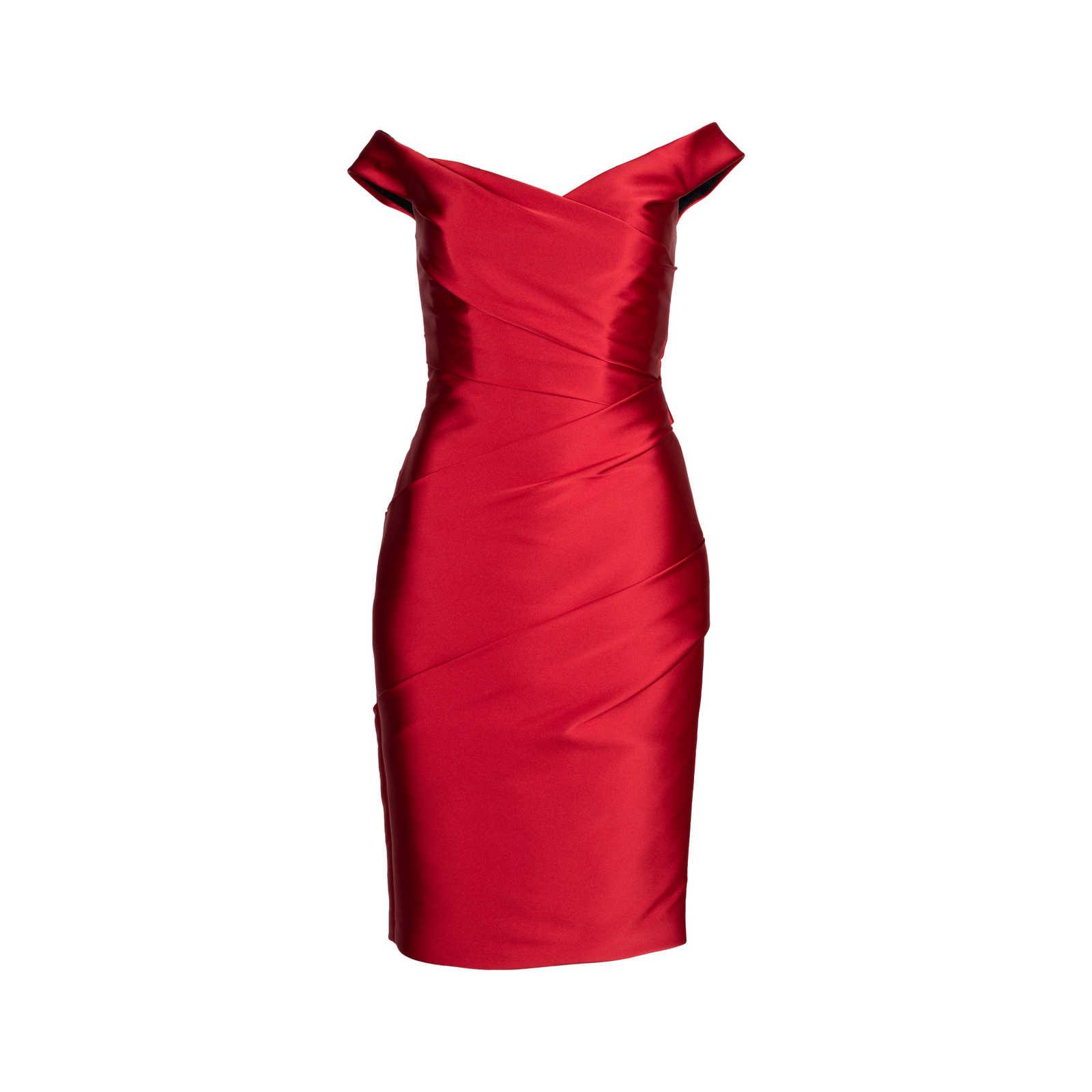 2423b68e376 Authentic Second Hand Monique Lhuillier Off-The-Shoulder Cocktail Dress  (PSS-424 ...