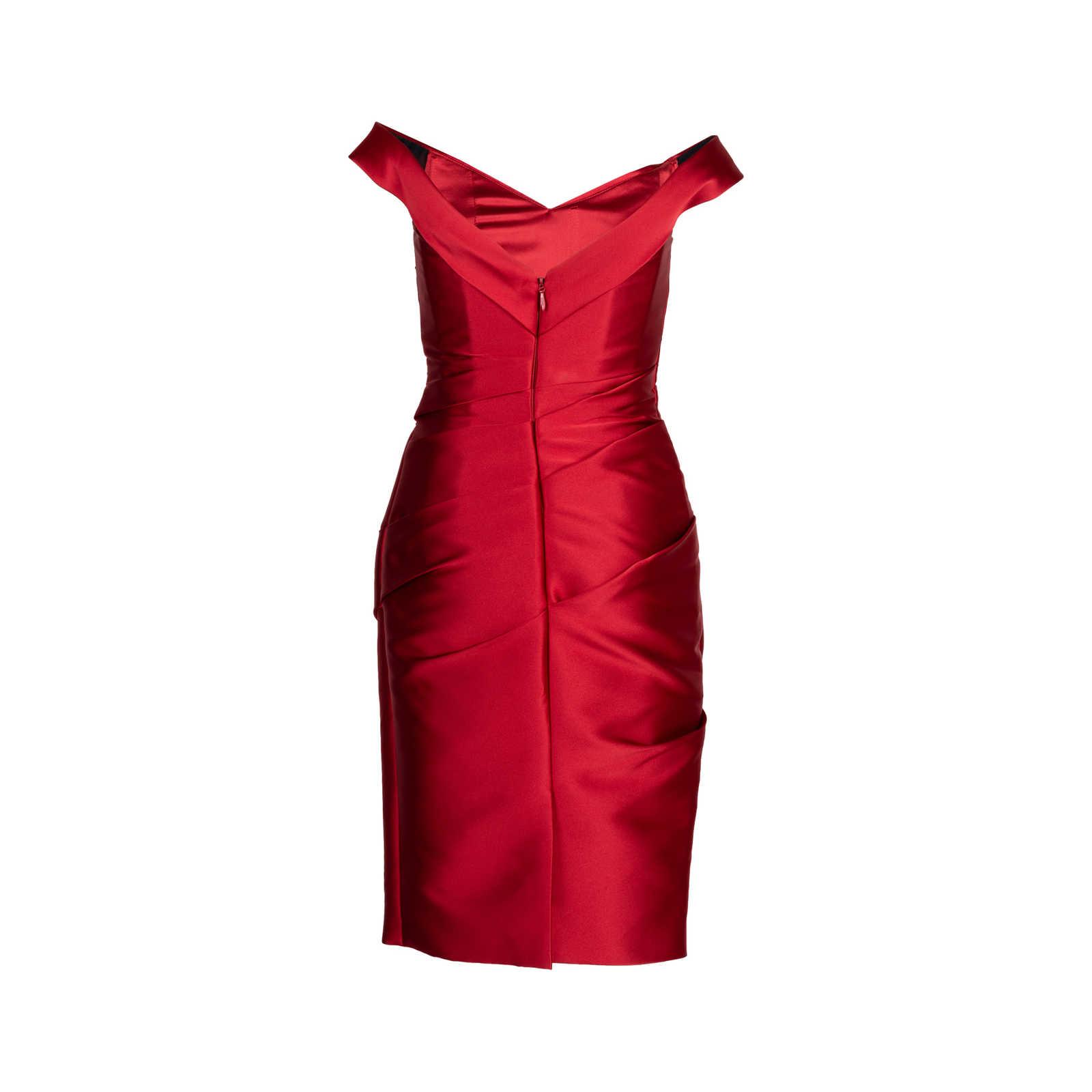 5ab7074a050 ... Authentic Second Hand Monique Lhuillier Off-The-Shoulder Cocktail Dress  (PSS-424 ...
