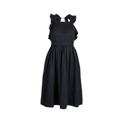 Willa Ruffled Twill Dress