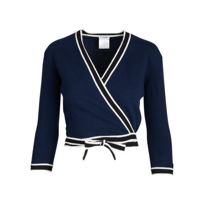 Authentic Second Hand Chanel Knit Wrapped Cardigan (PSS-575-00022)