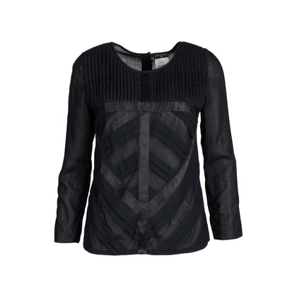 Authentic Second Hand Chanel Pleated Long Sleeved Blouse (PSS-575-00012)