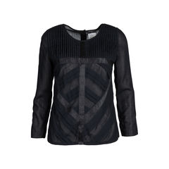 Pleated Long Sleeved Blouse