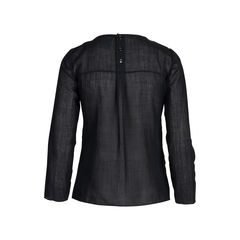 Chanel pleated long sleeved blouse 2?1542177005