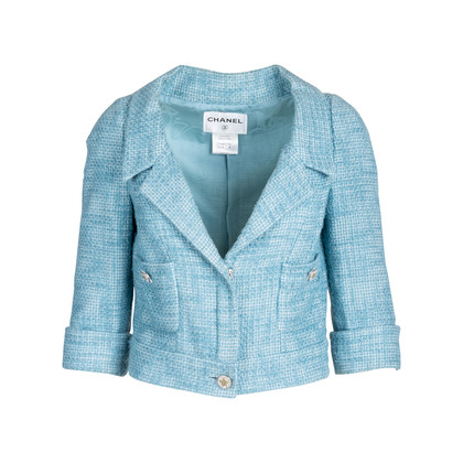 Authentic Pre Owned Chanel Cropped Tweed Jacket (PSS-575-00031)