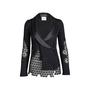 Authentic Second Hand Chanel Silk Collar Crochet Cardigan (PSS-575-00011) - Thumbnail 0