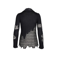 Chanel silk collar crochet cardigan 2?1542177254