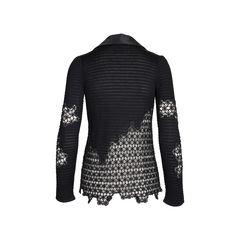 Chanel silk collar crochet cardigan 2?1542177254