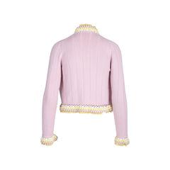 Chanel pom pom and lace cardigan 2?1542177287