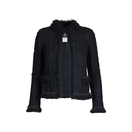 Authentic Pre Owned Chanel Ruffled Lace Trim Jacket (PSS-575-00028)