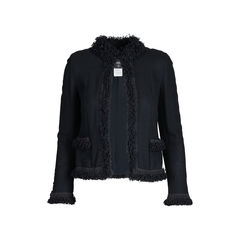 Ruffled Lace Trim Jacket