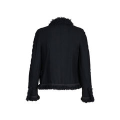 Chanel ruffled lace trim jacket 2?1542177317