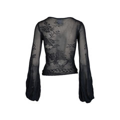 Chanel balloon sleeve knit top 2?1542177343