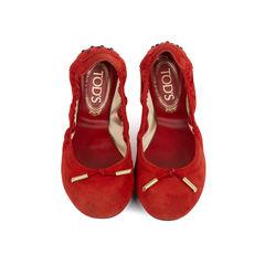 Suede Ballerina Flats