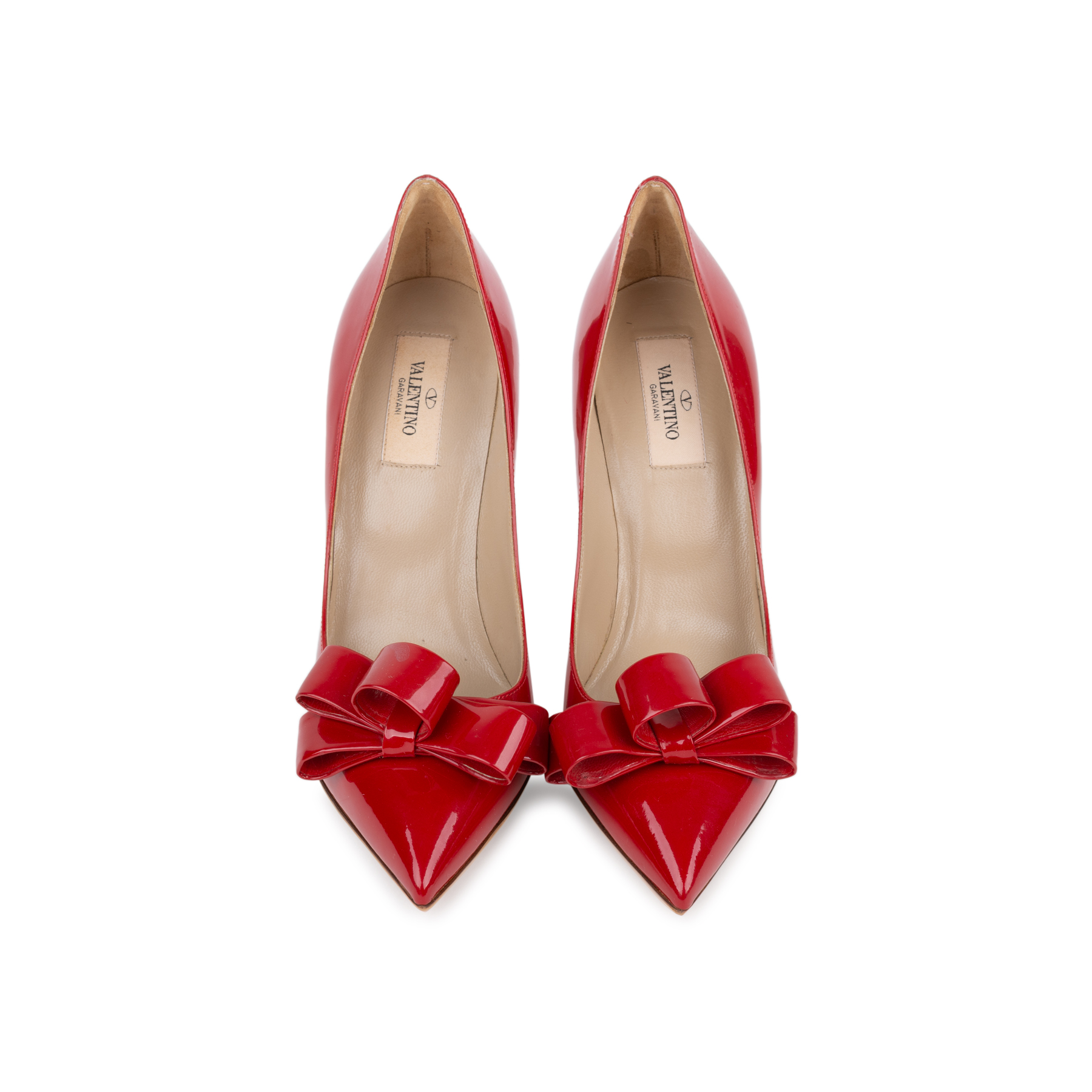 c1093a9704e Authentic Second Hand Valentino Bow Patent Pumps (PSS-556-00015) - THE  FIFTH COLLECTION