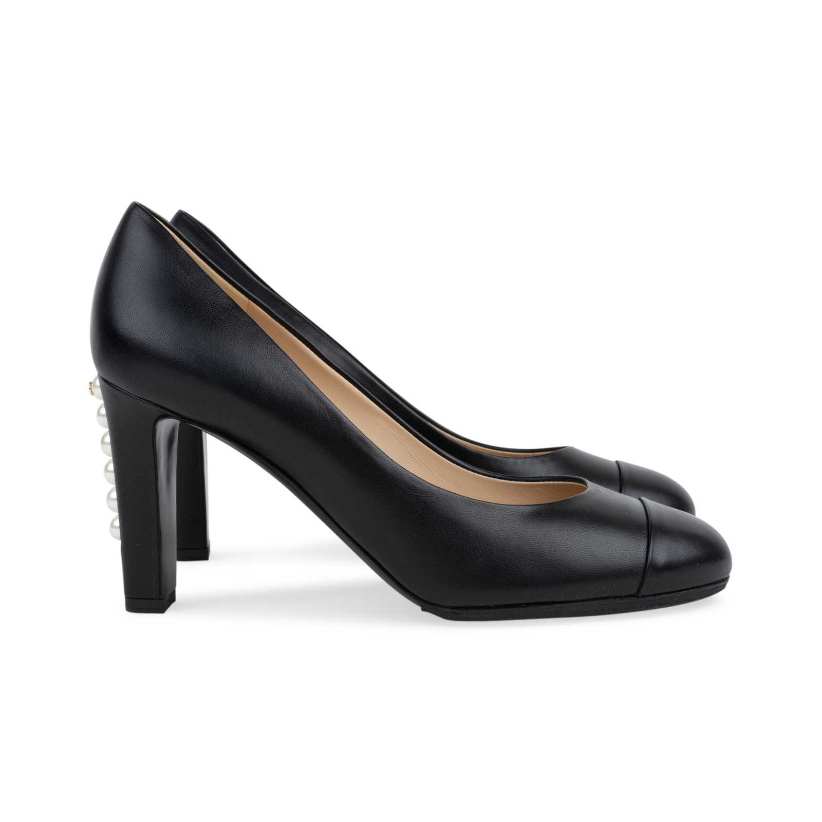 cfd677b5470f ... Authentic Second Hand Chanel Pearl Heel Pumps (PSS-566-00080) -  Thumbnail ...