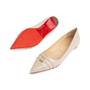 Authentic Second Hand Christian Louboutin Front Double Flats (PSS-566-00089) - Thumbnail 4