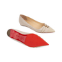 Authentic Second Hand Christian Louboutin Front Double Flats (PSS-566-00089) - Thumbnail 5