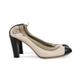 Authentic Second Hand Chanel Elastic Ballet Pumps (PSS-566-00114) - Thumbnail 4