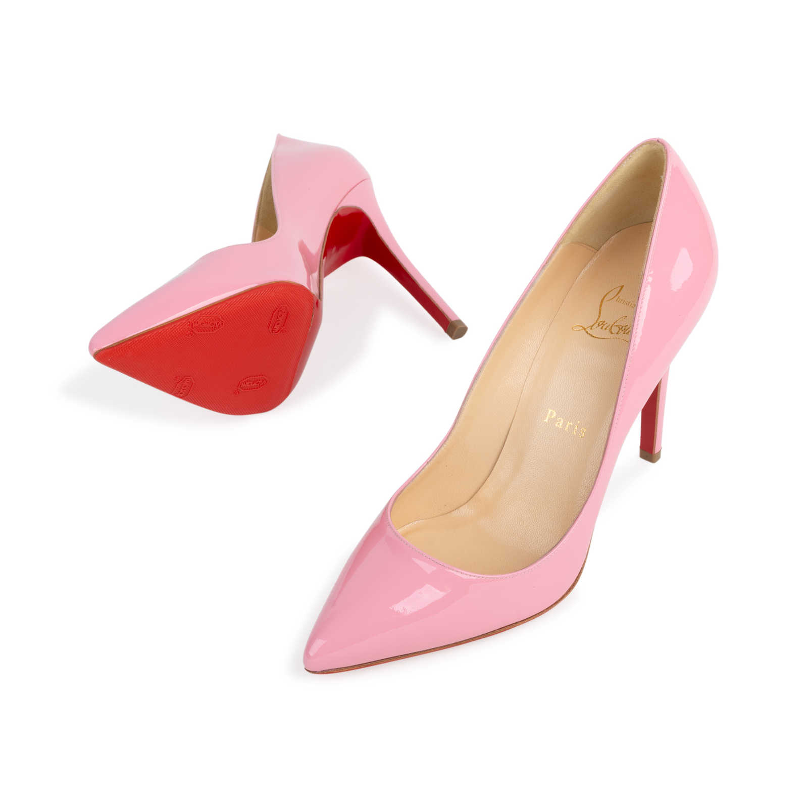 696e1d30aec4 ... Authentic Second Hand Christian Louboutin Baby Pink Pigalle 100 Pumps  (PSS-566-00106 ...
