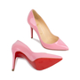 Authentic Pre Owned Christian Louboutin Baby Pink Pigalle 100 Pumps (PSS-566-00106) - Thumbnail 2