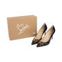 Authentic Second Hand Christian Louboutin Door Knock 85 Pumps (PSS-566-00107) - Thumbnail 6