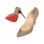 Authentic Second Hand Christian Louboutin Follies Spikes Glitter Pumps (PSS-566-00110) - Thumbnail 4