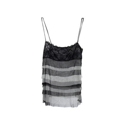 Authentic Second Hand Chanel Tiered Mesh Tank Top (PSS-575-00008)