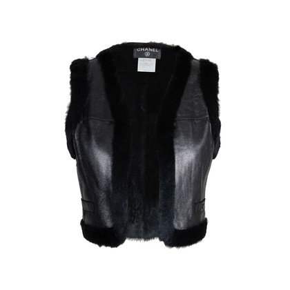 Authentic Pre Owned Chanel Rabbit Fur Cropped Vest (PSS-575-00010)