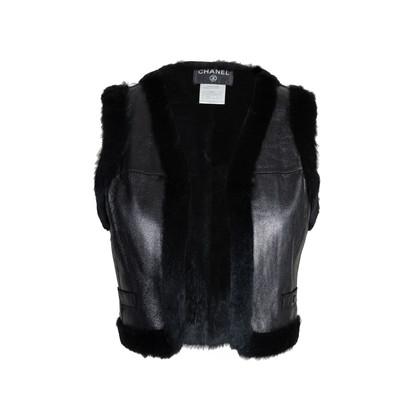 Authentic Second Hand Chanel Rabbit Fur Cropped Vest (PSS-575-00010)