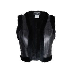 Rabbit Fur Cropped Vest