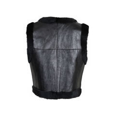 Chanel rabbit fur cropped vest 2?1542267545