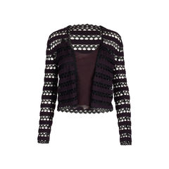 Slip Tank Top and Crochet Cardigan Set