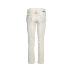 Chanel multicoloured stitched jeans 2?1542270261