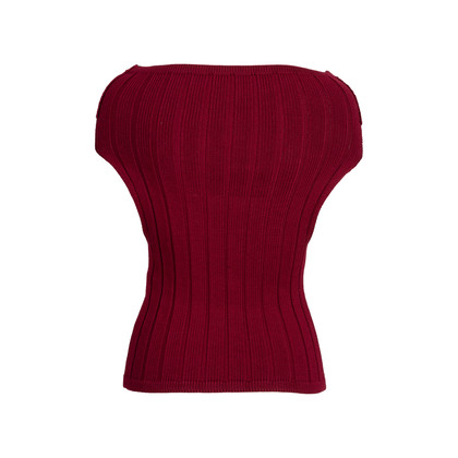 Authentic Pre Owned Chanel Off-Shoulder Knit Top (PSS-575-00007)