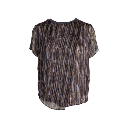 Authentic Pre Owned Theyskens' Theory Printed Silk Top (PSS-148-00043)