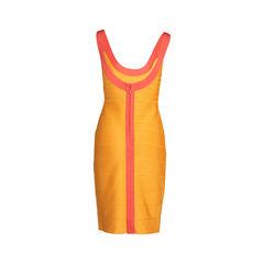 Herve leger bandage dress orange 2?1542596887