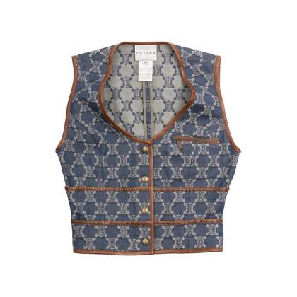 Authentic Second Hand Céline Logo Vest (PSS-581-00006)