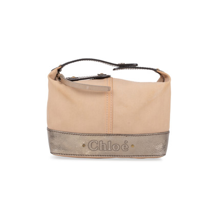 Authentic Pre Owned Chloé Canvas and Leather Clutch (PSS-581-00001)