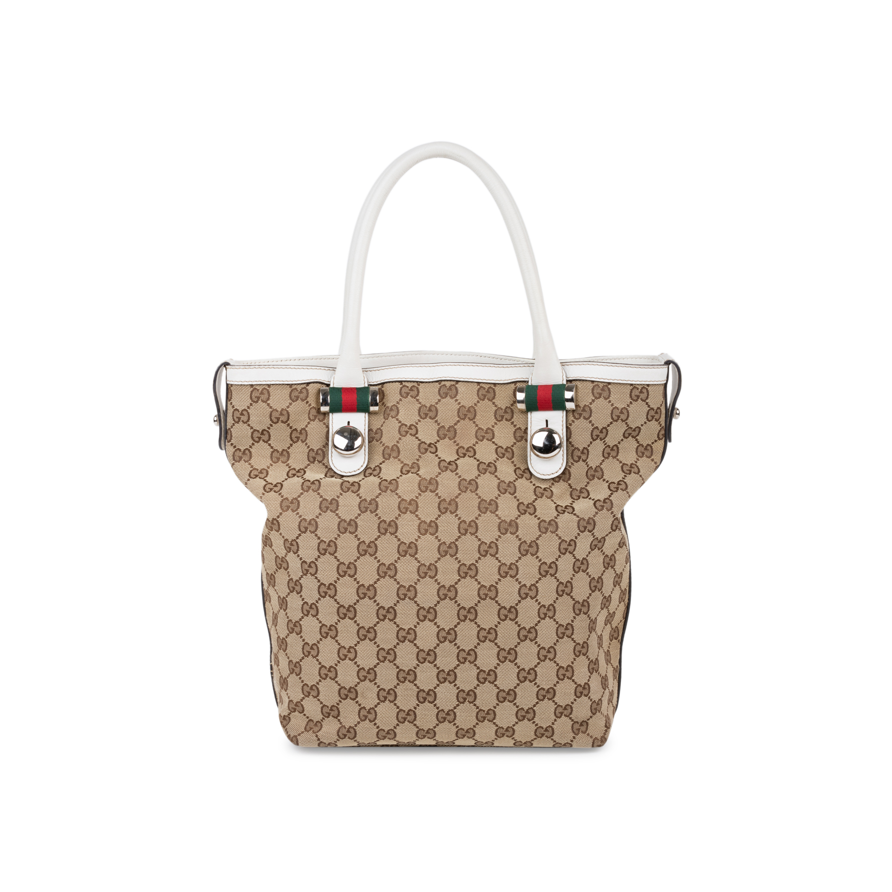 443843c05e7 Authentic Second Hand Gucci Vertical Monogram Tote (PSS-581-00003) - THE  FIFTH COLLECTION