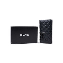 Chanel quilted cambon porte yen wallet 2?1542688080